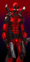 Deadpool sketch quick colors by ZipDraw