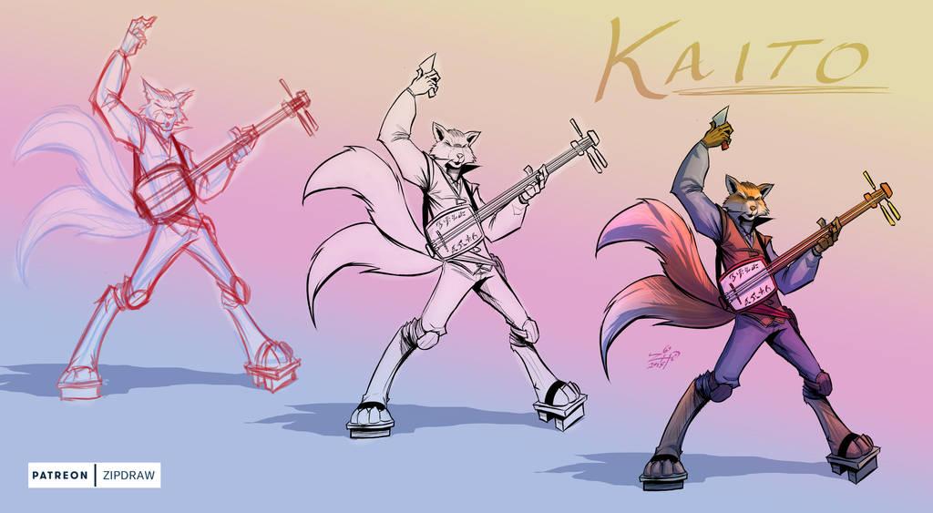 Twitch Stream Sketch Kaito by ZipDraw