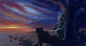 Drizzt-Guen  'First Dawn' by Athena-Erocith