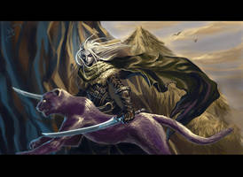 Drizzt and Guenhwyvar by Athena-Erocith