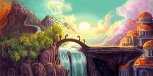 Fairytale landscape by Athena-Erocith