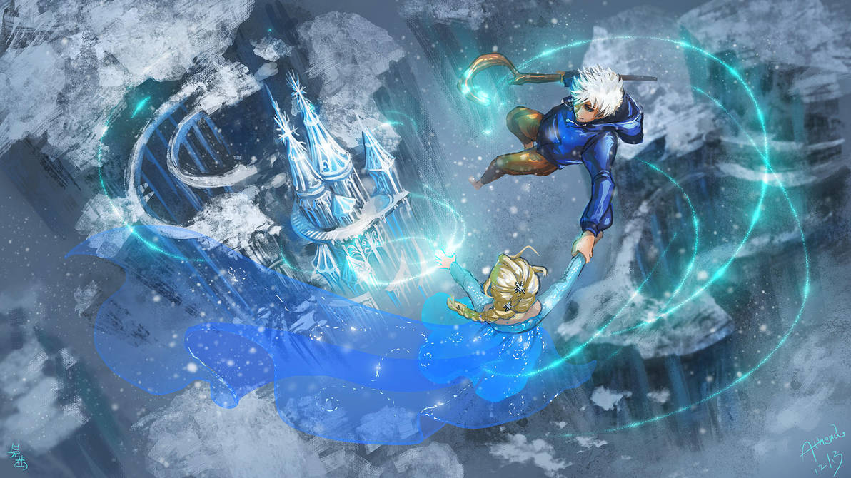 Elsa and Jack Frost~A Song of Ice and Frost~ by Athena-Erocith