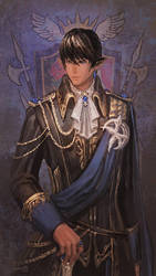 Aymeric as Head of House of Lords by Athena-Erocith