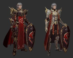 Haurchefant Unicorn armour design sketches by Athena-Erocith