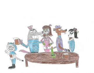 Double Date at Taxidermy Tavern by TUFFAgentShepherd