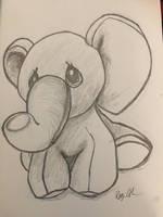 Oz the Elephant by holeyhippiegeek