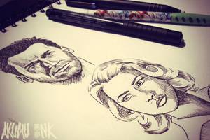 Mad Men Sketches by akumuink