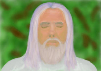 Gandalf the White in Meditation by aeiouthemouse