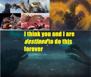 Godzilla vs Ghidorah by KaijuAlpha1point0