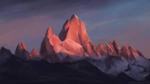 Landscape Study - Fitzroy by AnastasiaZhamoitina