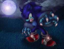 Sonic the Werehog by spdy4
