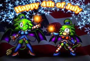 Happy 4th of July Double Team by spdy4