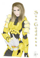 Me in Haybusa Armor - Color by HaloGoddess1