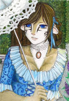In The Garden - ACEO by Sessko