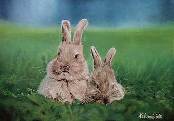 Bunnies by Katzova