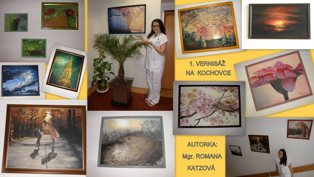 Paintings at my workplace by Katzova