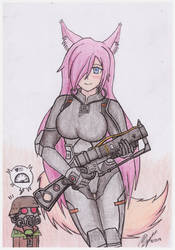 Foxykuro Chinese Stealth Suit (Fallout) by atisuto17