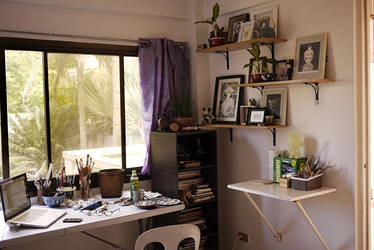 Sneak peek: My new workspace by frecklefaced29