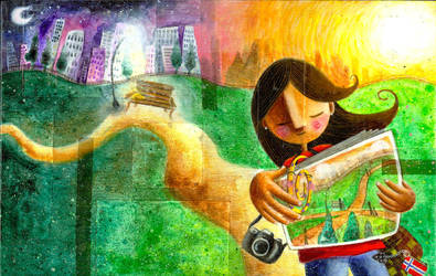 Book Illustration-Yellow Paper by frecklefaced29
