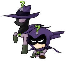 Mysterion and Mysterious Mare Do Well Epic Team Up by SouthParkTaoist