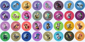 My Little Filly Button Designs by SouthParkTaoist