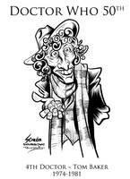 Doctor Who 4th Doctor Tom Baker by SouthParkTaoist