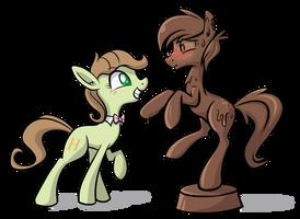 Saga and Chocolate Pony by SouthParkTaoist