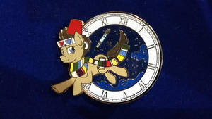Doctor Whooves Time Travel Pin by SouthParkTaoist
