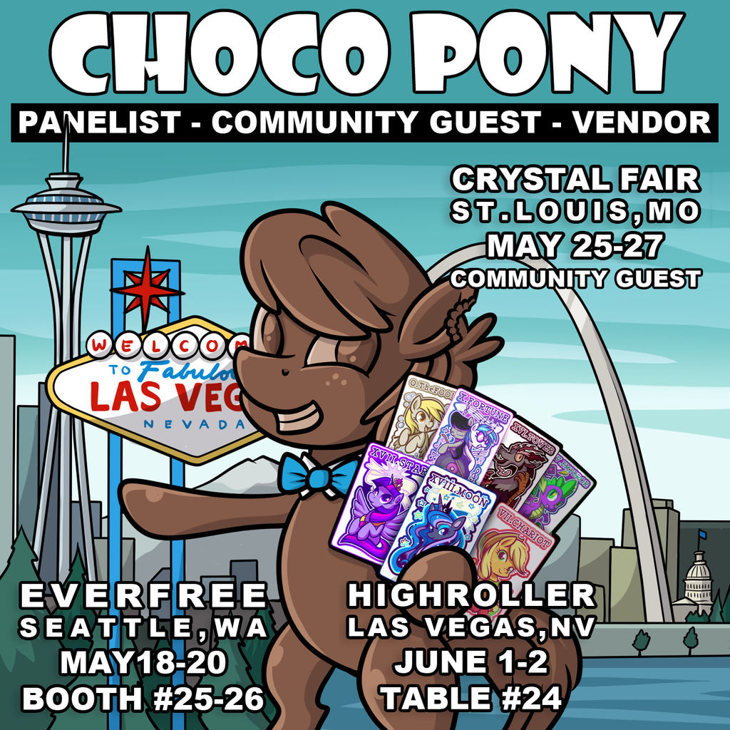 Vending at Three Back to Back Pony Cons by SouthParkTaoist