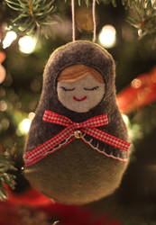 Matryoshka/Nesting Doll Holiday Ornament by heysugar