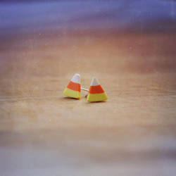 Candy Corn Earrings by heysugar