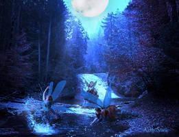 Fairies-Playing by KellyStark