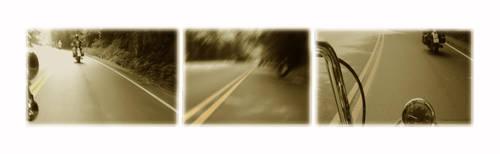 Yellow line dream by whiplashbikerphotog