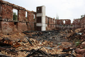 Fire ruin Stock 01 by Malleni-Stock