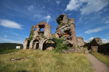 Neuscharfeneck Ruins Stock 28 by Malleni-Stock