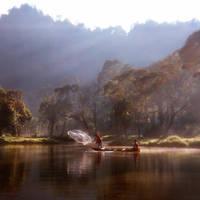Dreamy Morning at Situ Gunung by thesaintdevil