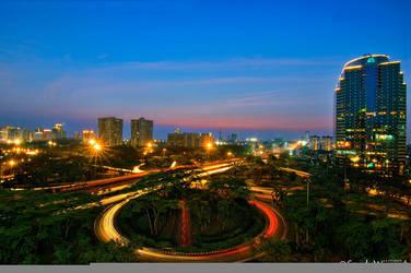 Evening in Jakarta by thesaintdevil