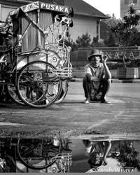 Pedicab Driver by thesaintdevil