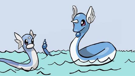 Dratini  Dragonair  by mannydrawscomics