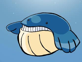 Inktober Day 12: Whale by mannydrawscomics