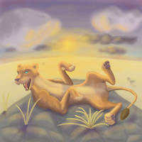Lioness at sunset by Maltakreuz