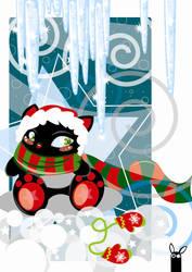 Christmas cat by gjukas