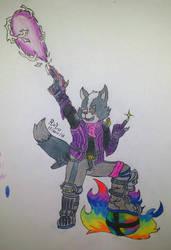 Wolf O'Donnel - Smash Ultimate FanArt by Victor-00Riolu