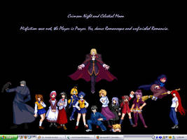 Melty Blood cast BG by Sadie-Dkirin
