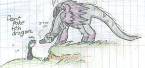 Dont Poke Teh Dragon by Sadie-Dkirin
