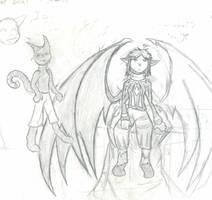 Rin and Coba by Sadie-Dkirin
