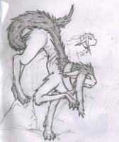 Keisi - demon slash beast form by Sadie-Dkirin