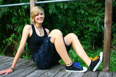 blue orange converse shoelaces by Dr-J-Zoidberg