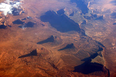 Monument Valley from above by Dr-J-Zoidberg