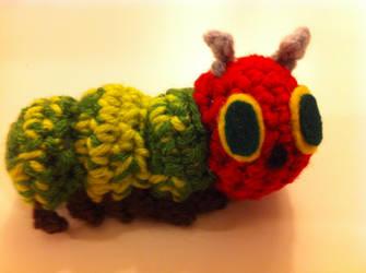 Tiny Very Hungry Caterpillar by craftycalamari